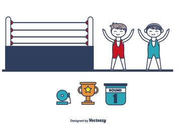 Wrestling Icons Vector - бесплатный vector #415487