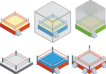 Free Wrestling Ring Icons Vector - бесплатный vector #415527