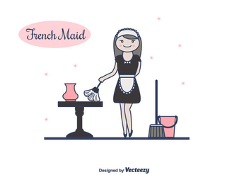 French Maid Vector - vector gratuit #415537