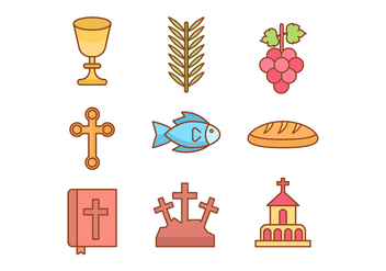 Free Holy Week Icons - бесплатный vector #415577