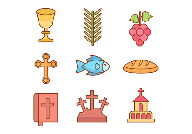 Free Holy Week Icons - vector gratuit #415577