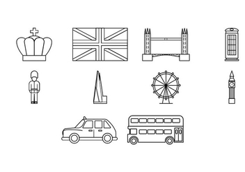 Free London Icon Vector - vector #415587 gratis