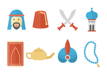 Free Middle East Icons - vector #415597 gratis