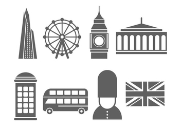 Free London Landmarks and Icons - Kostenloses vector #415607