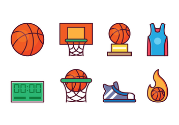 Free Basketball Icon Set - vector gratuit #415627