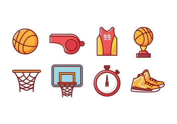 Free Basketball Icons - vector gratuit #415677