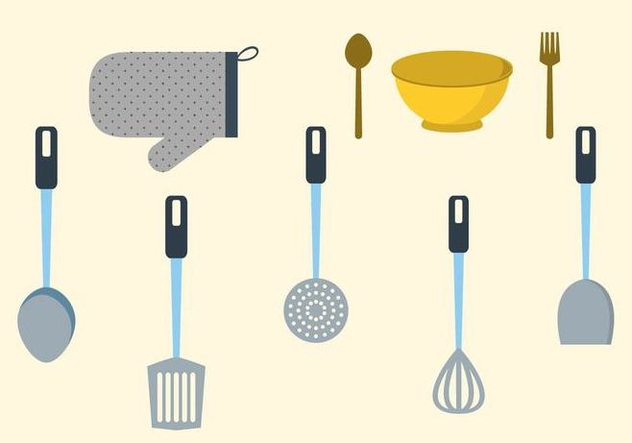 Free Kitchen Utensil Vector - Free vector #415687