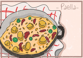 Paella Spanish Food - Free vector #415857