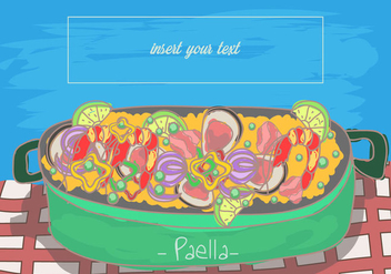 Paella Spanish Food - Free vector #415867