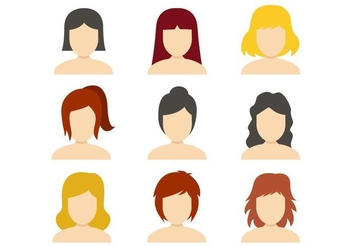 Free Woman Icons Vector - бесплатный vector #415877