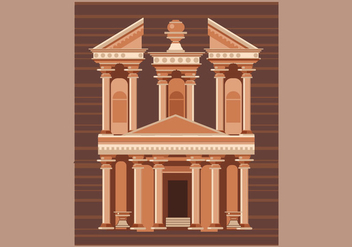 Petra Vector Illustration - vector gratuit #415937