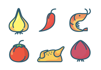 Paella Element Icon - Free vector #415947
