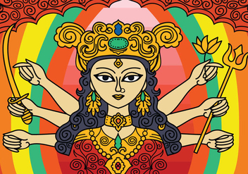 Free Durga Vector Background - Free vector #416017
