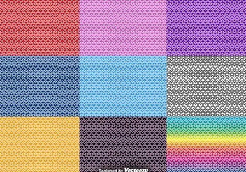 Vector Set Of Heart Seamless Patterns - Free vector #416067