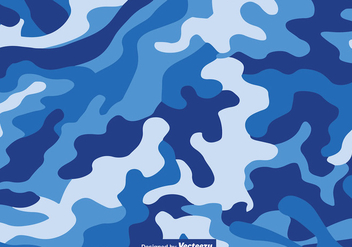 Vector Blue Camouflage Pattern - Free vector #416087
