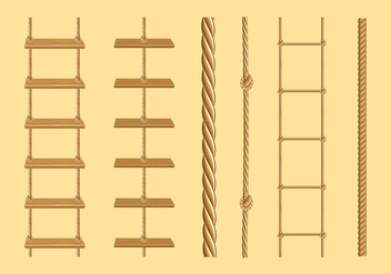 Rope Ladder Free Vector - Free vector #416107