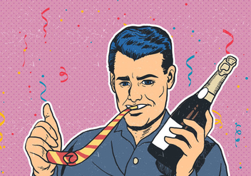 Party Celebration With Party Blower - Free vector #416167