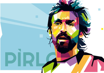 Pirlo - Football Life - WPAP - Free vector #416177