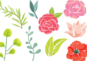 Free Simple Flowers 2 Vectors - Free vector #416297