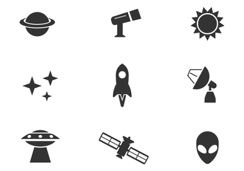 Free Outer Space Vector Icons - vector gratuit #416307