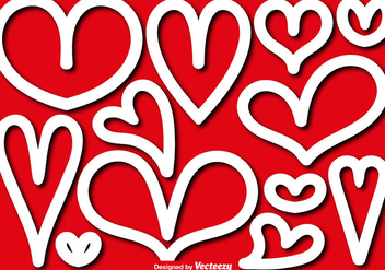 Vector Shapes Of Hearts - vector gratuit #416337