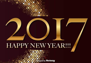 Happy New Year 2017 Vector Background - vector gratuit #416417