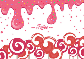 Pink Toffee Background - vector gratuit #416457