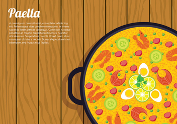 Paella Top View Free Vector - бесплатный vector #416487