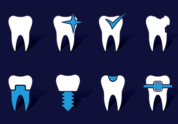 Dentista Icons - vector #416547 gratis