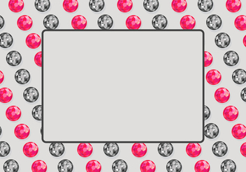 Rhinestone Background Template - vector gratuit #416607