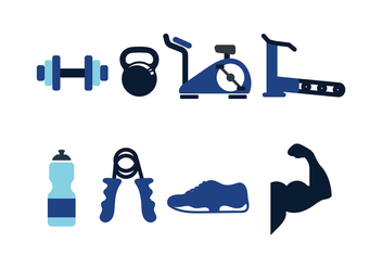 Fitness Icon Pack Vector - vector gratuit #416637