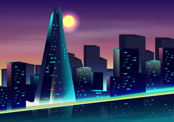 The Shard In The Night View - vector #416647 gratis