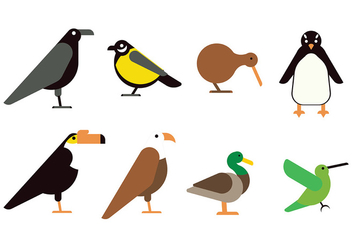 Flat Bird Icon - vector gratuit #416667