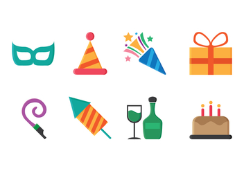 Free Party Icons - vector #416677 gratis