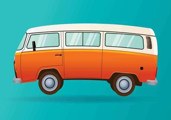 Hippie Bus Vector - Free vector #416697