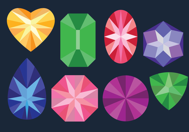 Colored Gems Sets - Free vector #416727