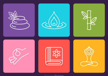 Free Spa Vector Outline Icons - vector gratuit #416847