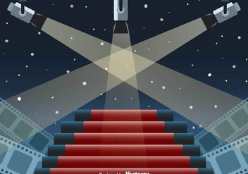 Hollywood Lights Vector Scene - бесплатный vector #416867