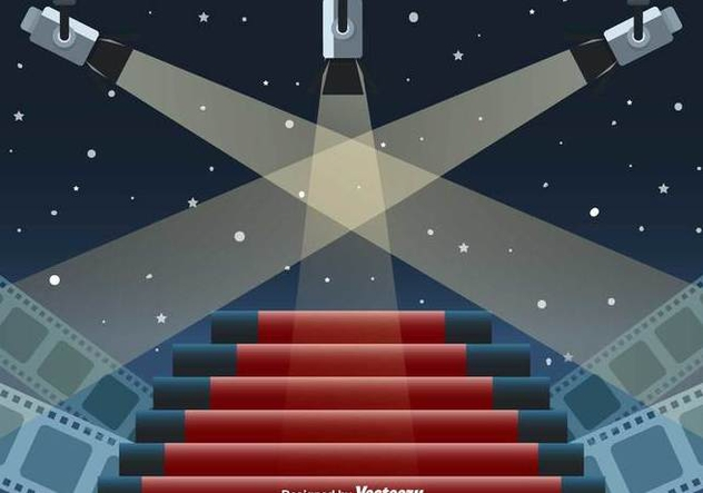 Hollywood Lights Vector Scene - Kostenloses vector #416867