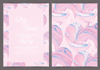 Vector Marble Effect Wedding Invite - бесплатный vector #416937