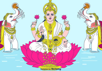 Lakshmi Vector Background - Free vector #416957