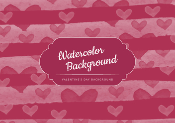 Vector Watercolor Valentine's Day Background - vector gratuit #416967