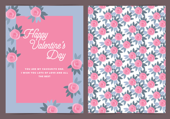 Vector Roses Valentine's Day Card - Free vector #416977