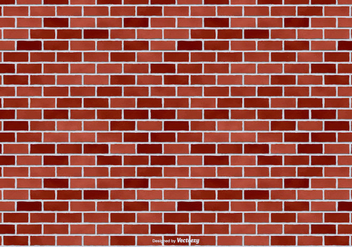 Red Brick Vector Background - Free vector #416997