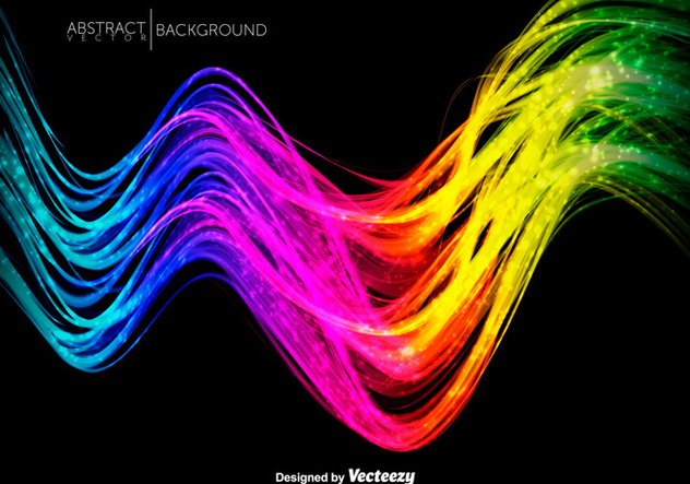 Abstract Colorful Shiny Waves - Vector Illustration - Free vector #417017