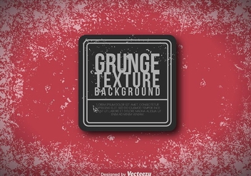 Red Grungy Background - Vector Template - Free vector #417037