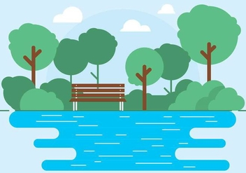 Free Vector Outdoor Park Illustration - Kostenloses vector #417197