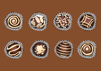 Toffee Top View Free Vector - vector gratuit #417287