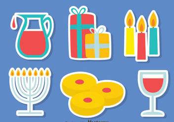 Shabbat Element Vector Set - Free vector #417307