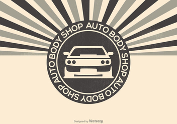 Auto Body Shop Illustration - Kostenloses vector #417407